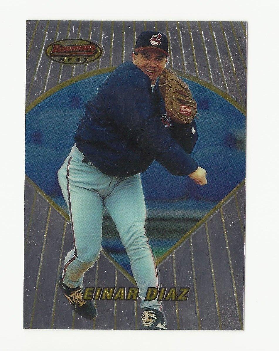 Einar Diaz 1996 Bowman's Best Single Card #177 Cleveland Indians