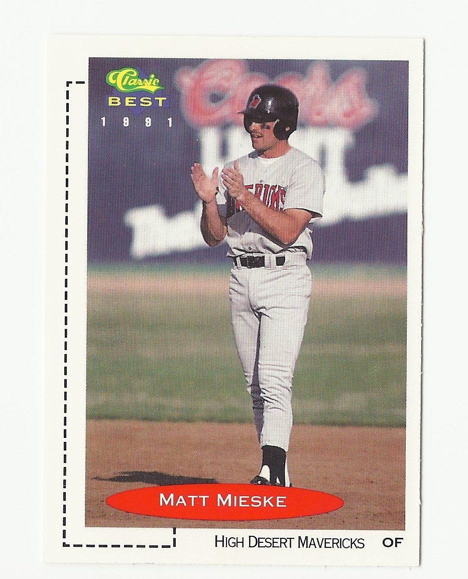 Matt Mieske 1991 Classic Best Rookie Card #8 Milwaukee Brewers