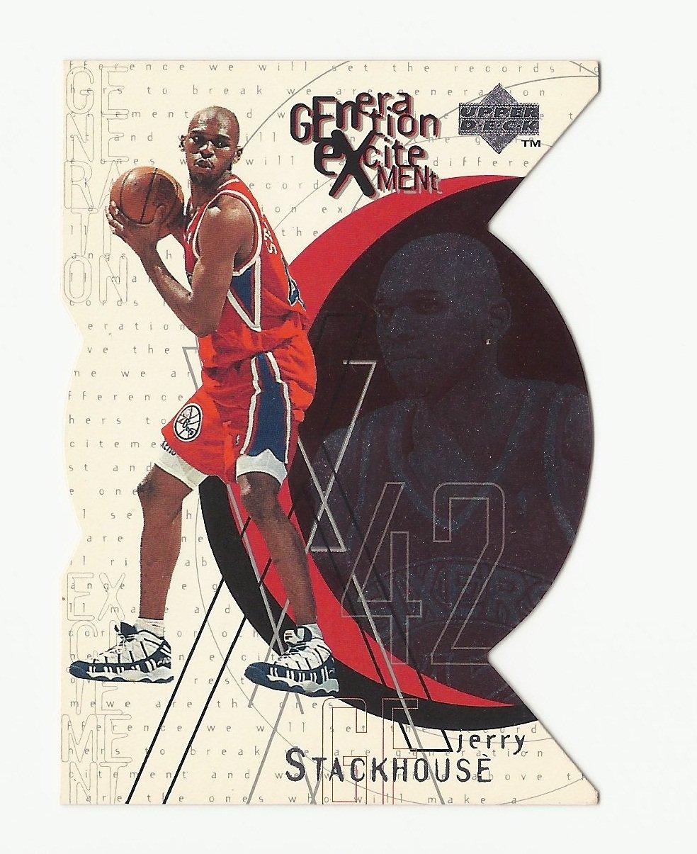 Jerry Stackhouse 1996 Upper Deck Generation Excitement Insert Card #G13 Philadelphia 76ers