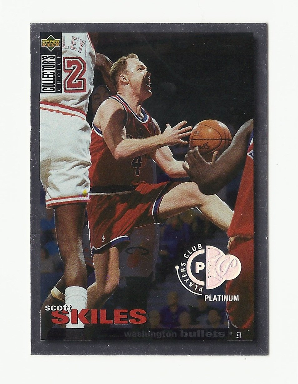 Scott Skiles 1995 Collector's Choice Players Club Platinum Card #228 Washington Bullets/Wizards