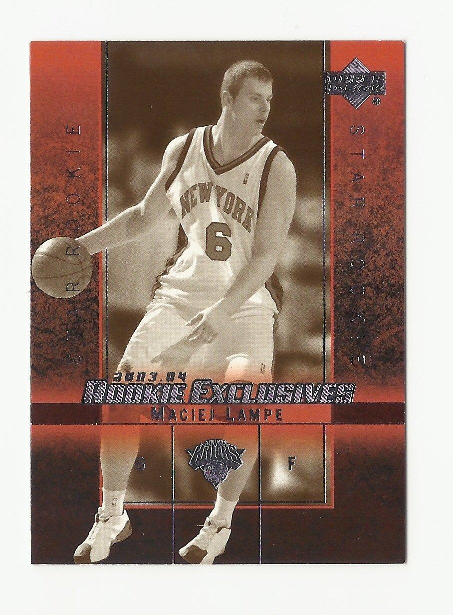 Maciej Lampe 2004 Upper Deck Rookie Exclusives Rookie Card #25 New York Knicks