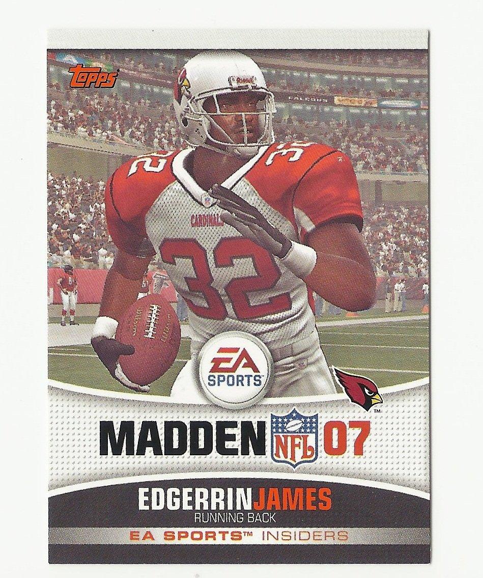 Edgerrin James 2006 Topps Madden 07 Card #6 Arizona Cardinals