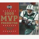Laveranues Coles 2005 Upper Deck MVP Predictor Insert Card #MVP-50 New York Jets