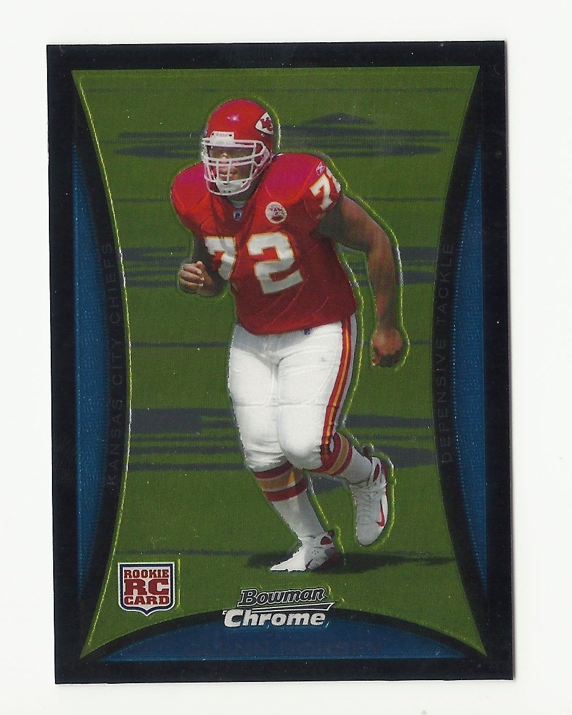 Glenn Dorsey 2008 Bowman Chrome Rookie Card #BC110 Kansas City Chiefs/San Francisco 49ers