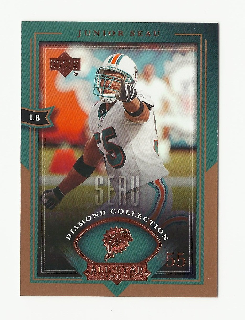 Junior Seau 2004 Upper Deck Diamond Collection All Star Lineup Single Card #86 Miami Dolphins