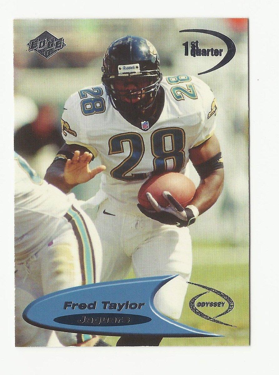 Fred Taylor 1998 Collector's Edge Odyssey 1st Quarter Rookie Card #65 Jacksonville Jaguars