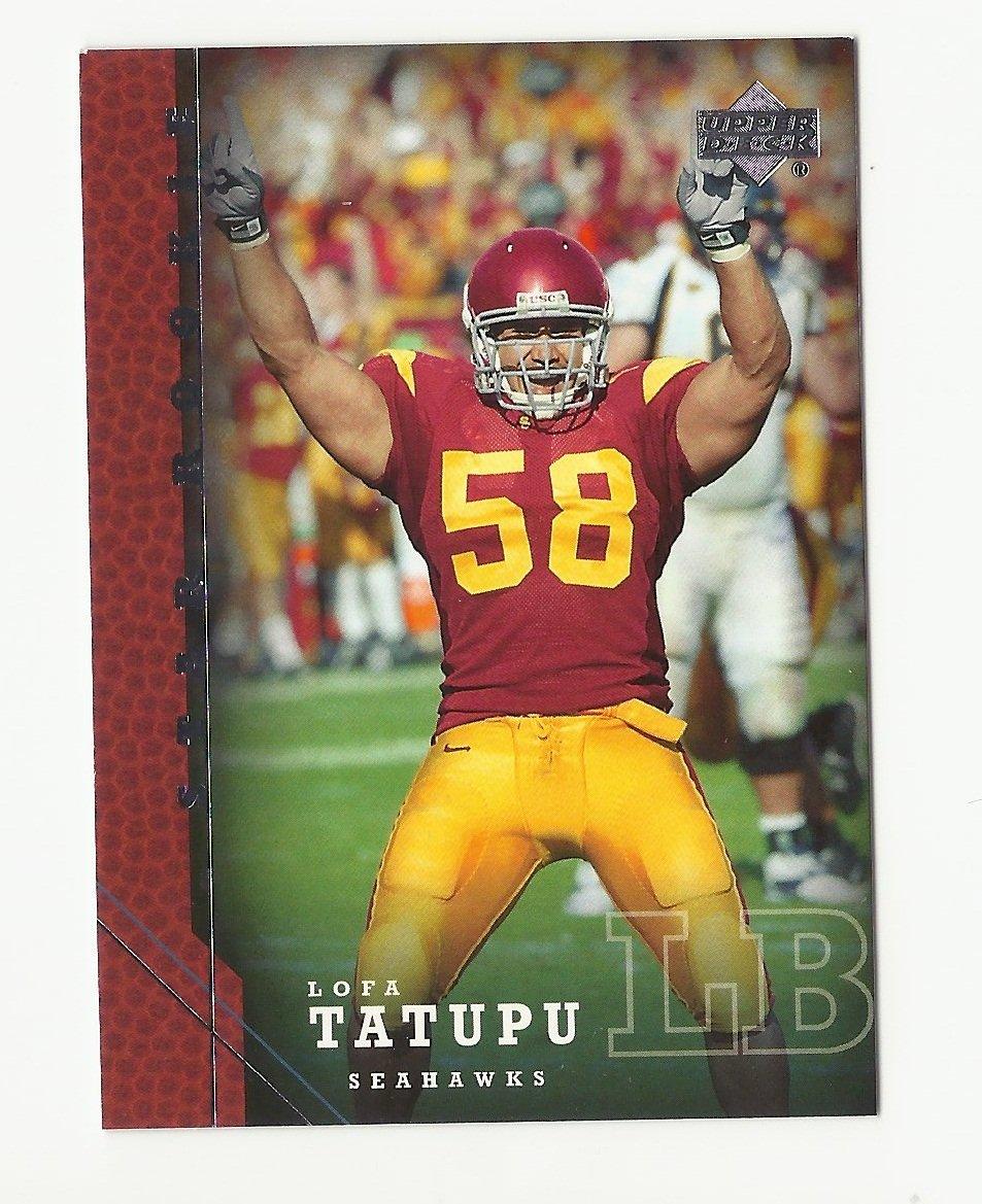 Lofa Tatupu 2005 Upper Deck Star Rookie Card #253 Seattle Seahawks