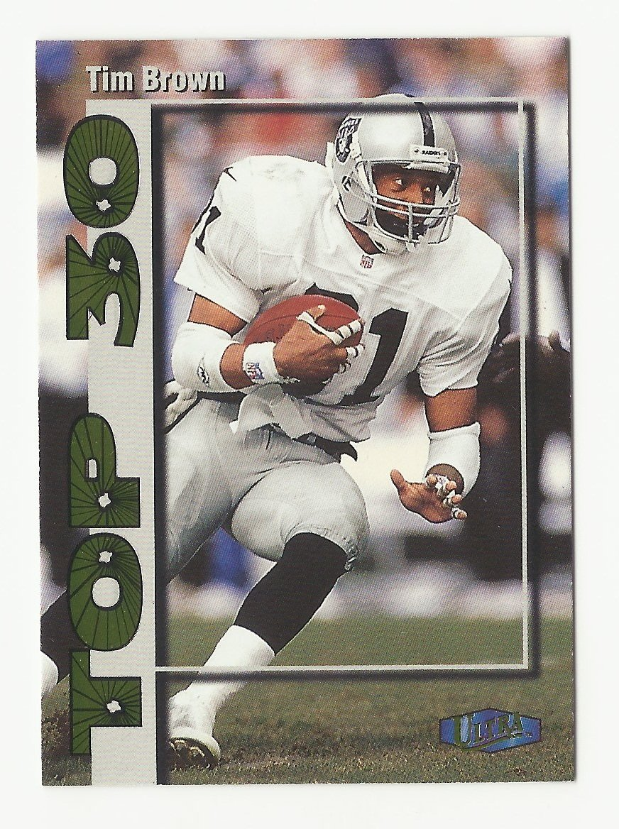 Tim Brown 1998 Ultra Top 30 Insert Card #5 Los Angeles/Oakland Raiders