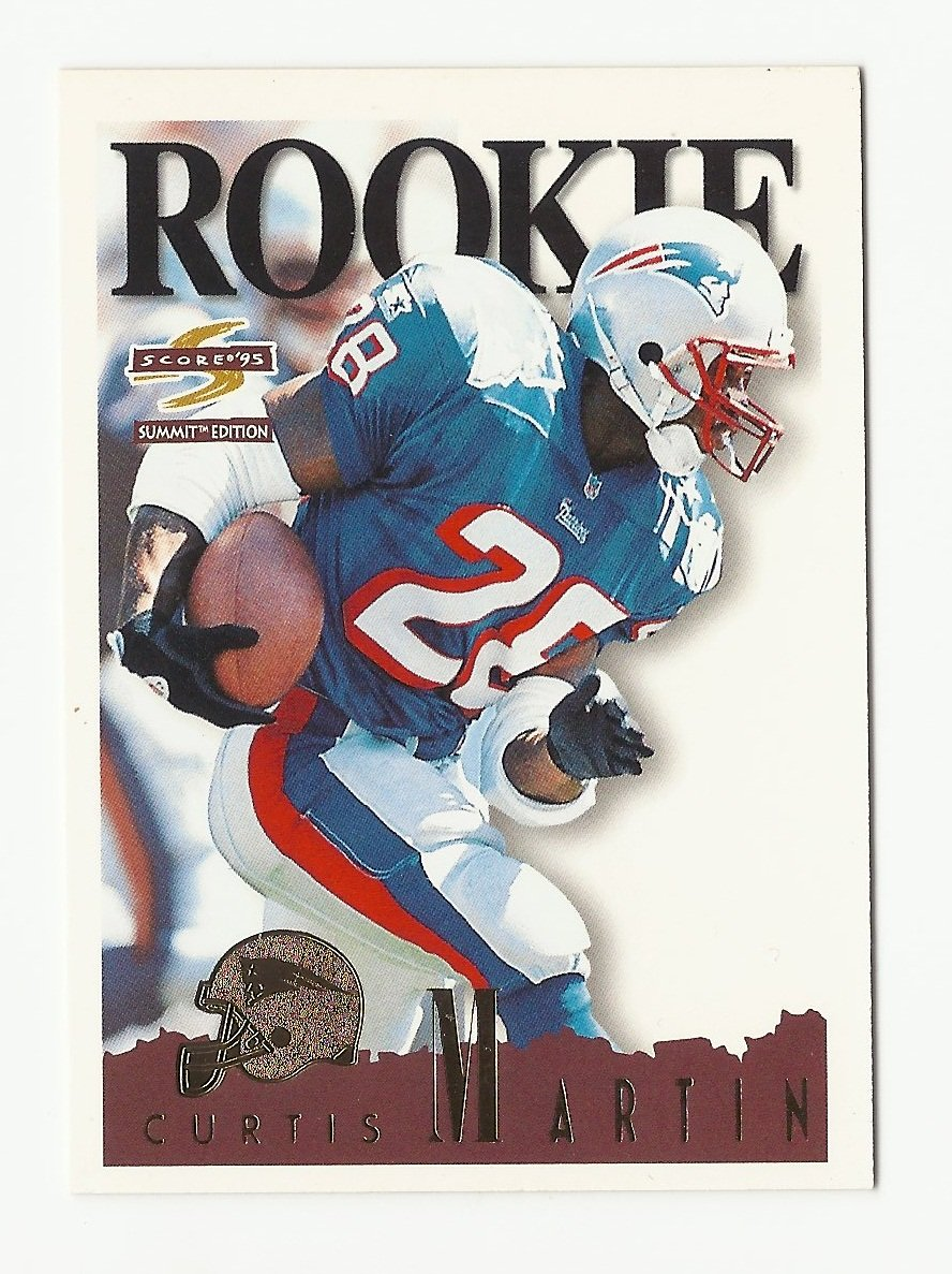 Curtis Martin 1995 Score Summit Edition Rookie Card #166 New England Patriots