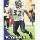 Ray Lewis 2010 Topps Single Card #160 Baltimore Ravens