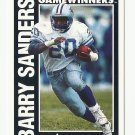 Barry Sanders 1991 Pinnacle Gamewinners Single Card #366 Detroit Lions