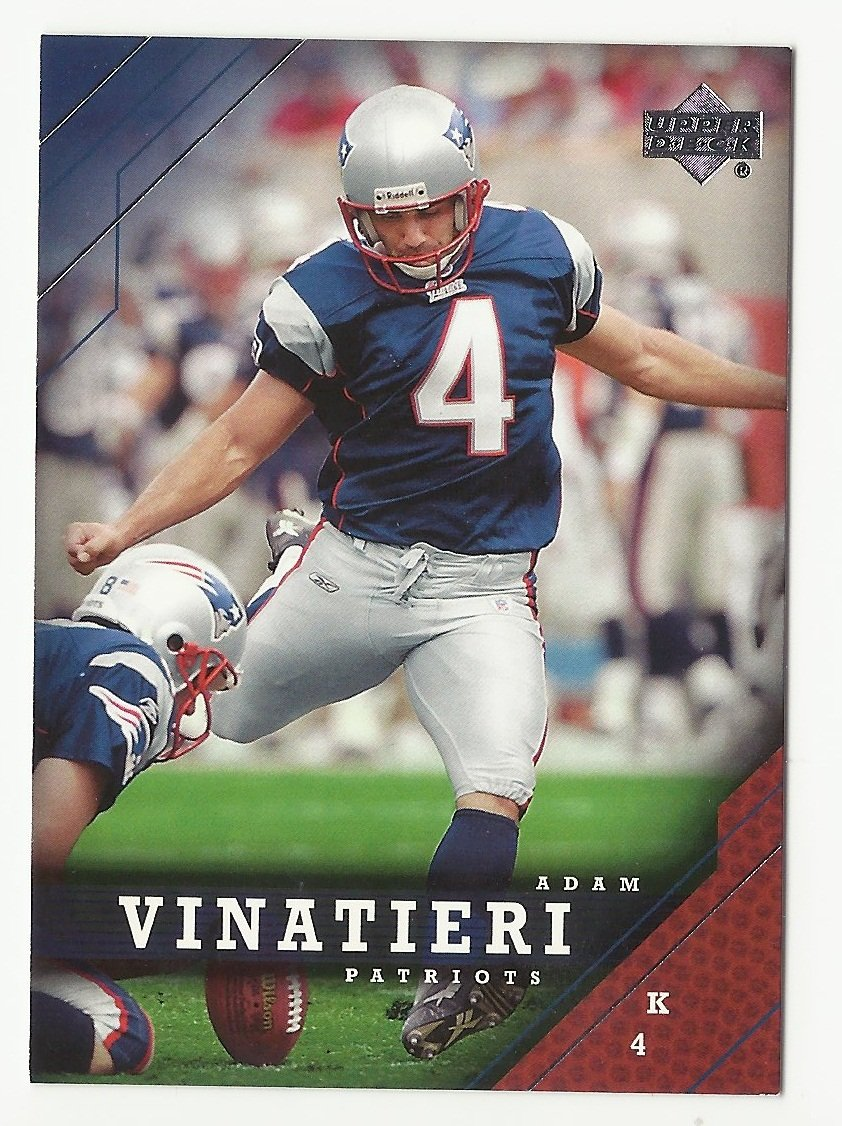 Adam Vinatieri 2005 Upper Deck Single Card #113 New England Patriots