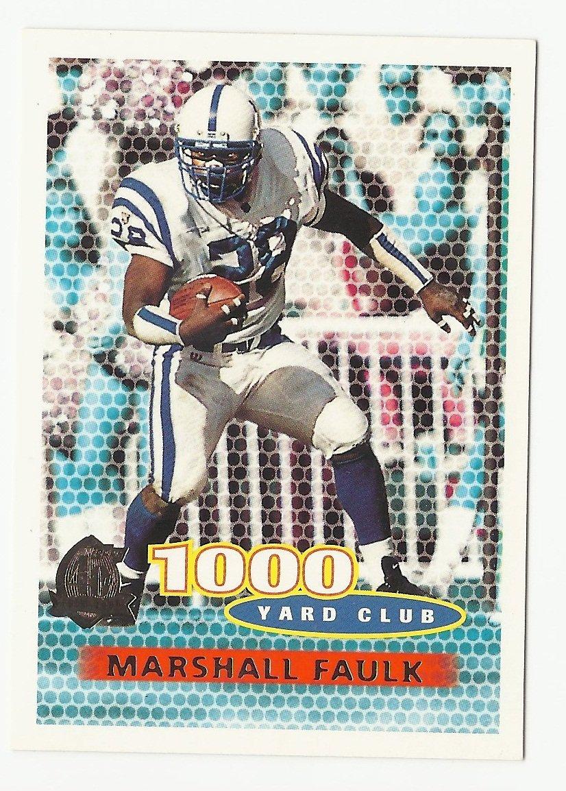 Marshall Faulk 1996 Topps 1000 Yard Club Insert Card #132 Indianapolis Colts