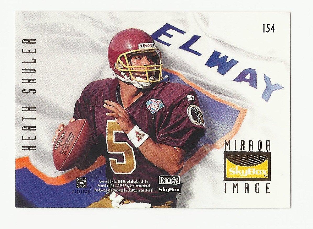 John Elway/Heath Shuler 1995 Skybox Mirror Image Single Card #154 Denver Broncos/Washington Redskins