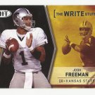 Josh Freeman 2009 Sage Hit The Write Stuff Rookie Card #12 Tampa Bay Buccaneers/New York Giants