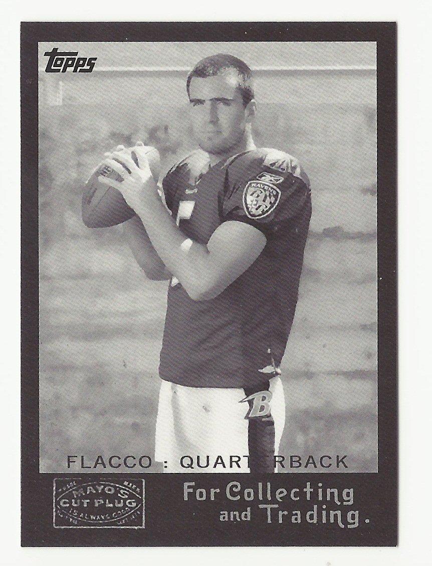 Joe Flacco 2008 Topps Mayo Cut Plug Retro Rookie Card #2 Baltimore Ravens