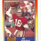Joe Montana 1990 Score Record Breakers Single Card #594 San Francisco 49ers