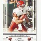 Tony Gonzalez 2008 Playoff Prestige Single Card #48 Kansas City Chiefs