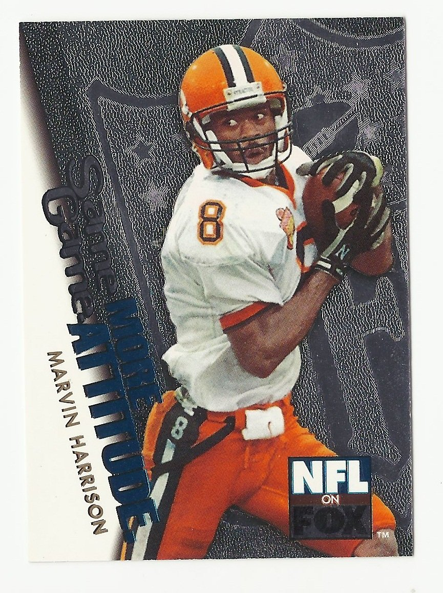 Marvin Harrison 1996 Skybox Same Game More Attitude Rookie Card #8 Indianapolis Colts