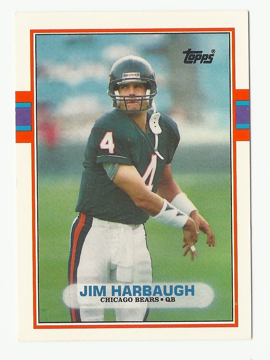 Jim Harbaugh 1989 Topps Traded Rookie Card #91T Chicago Bears
