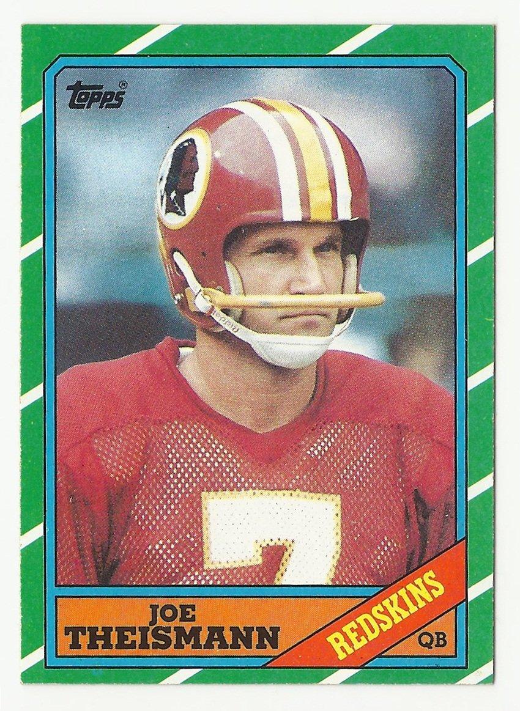 Joe Theismann 1986 Topps Single Card #171 Washington Redskins