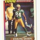 Sterling Sharpe 1991 Topps 1000 Yard Club Single Card #10 Green Bay Packers