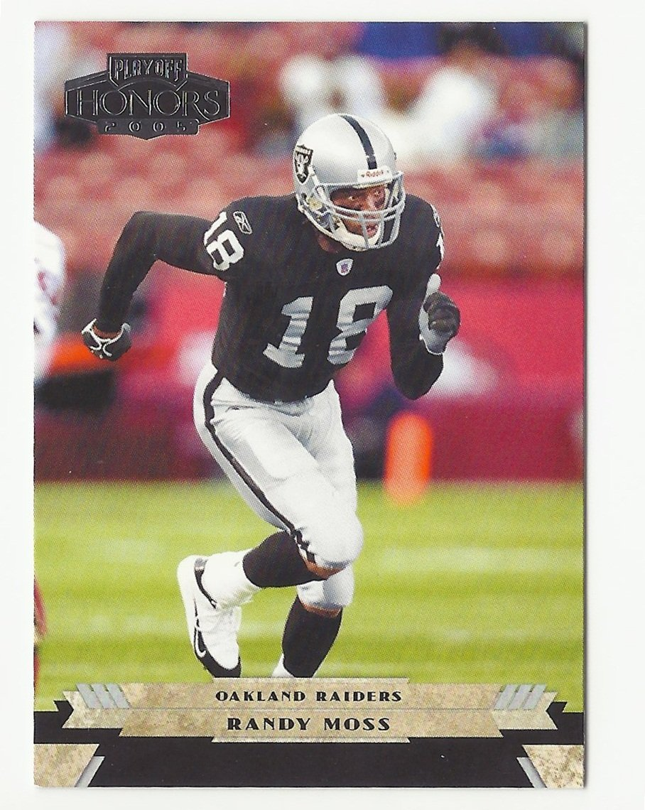 Randy Moss 2005 Playoff Honors Single Card #73 Oakland Raiders/San Francisco 49ers