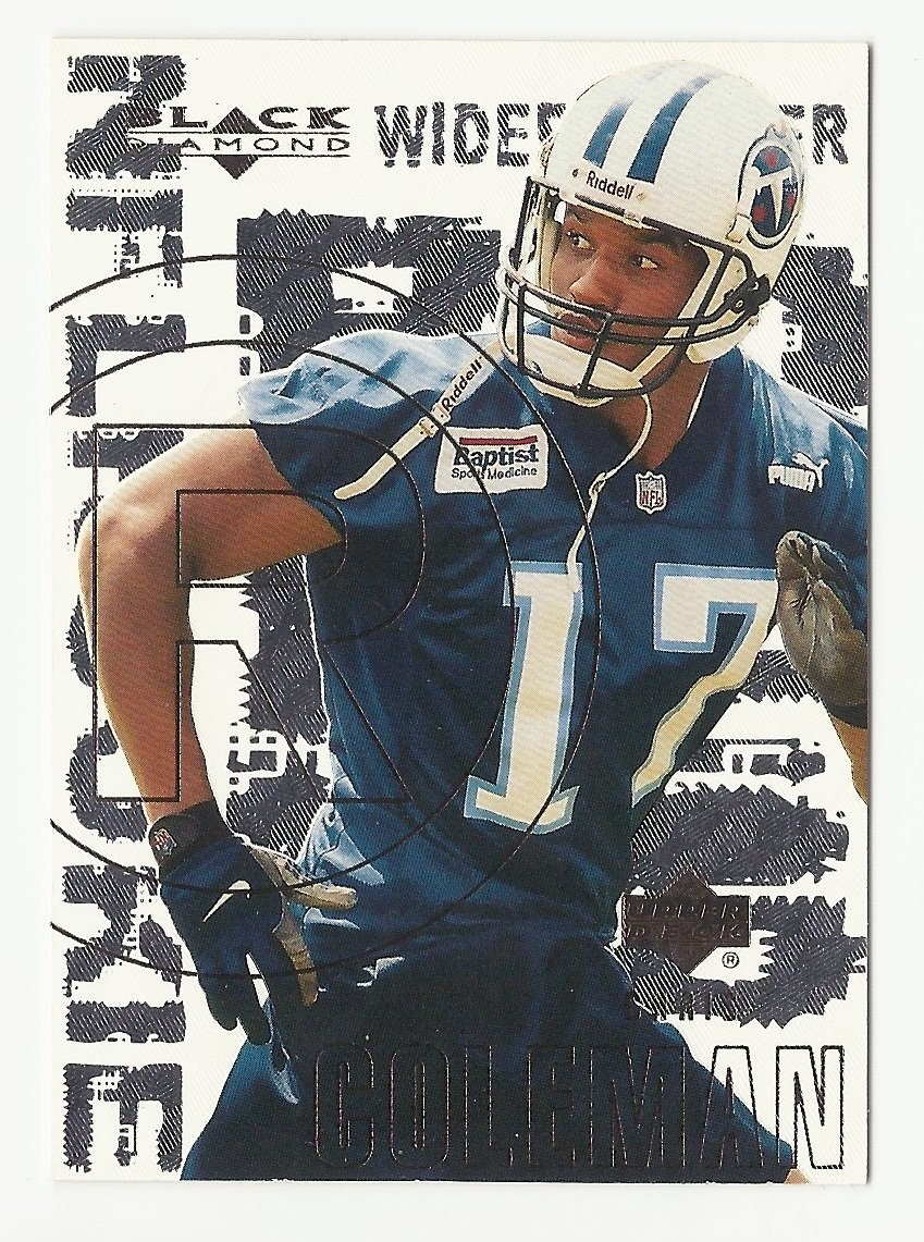 Chris Coleman 2000 Upper Deck Black Diamond Rookie Card #132 Tennessee Titans