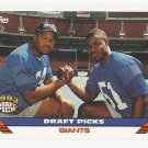 Michael Strahan/Marcus Buckley 1993 Topps Rookie Card #275 New York Giants