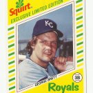 George Brett 1982 Topps Squirt Exclusive Limited Edition Card #3 Kansas City Royals