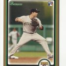 Neil Walker 2010 Bowman Draft Gold Rookie Card #BDP83 Pittsburgh Pirates