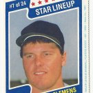 Roger Clemens 1987 M&Ms Star Lineup Card #7 Boston Red Sox