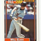 Will Clark 1992 Topps All-Star Card #386 San Francisco Giants