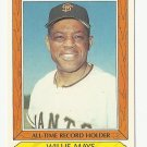 Willie Mays 1985 Topps Collectors' Series All-Time Record Holder Card #26 San Francisco Giants