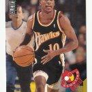 Mookie Blaylock 1995 Upper Deck Collector's Choice Scouting Report Card #321 Atlanta Hawks