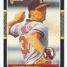 Chuck Finley 1987 Donruss Rookie #407 Los Angeles/Anaheim Angels