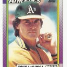 Tony LaRussa 1990 Topps Card #639 Oakland Athletics/St. Louis Cardinals