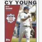 Eric Gagne 2004 Topps Cy Young Winner Card #715 Los Angeles Dodgers
