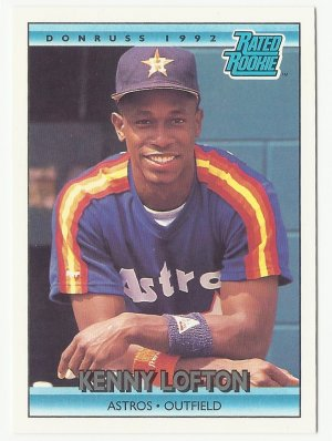 Kenny Lofton 1992 Donruss Rated Rookie Card 5 Houston