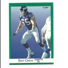Bart Oates 1991 Fleer Card #317 New York Giants
