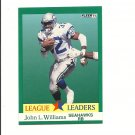 John L. Williams 1991 Fleer League Leaders Card #419 Seattle Seahawks