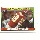 Derrick Thomas 1990 Topps Highlights Card #3 Kansas City Chiefs