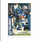 Joey Galloway 1996 Collector's Choice Card #255 Seattle Seahawks
