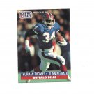 Thurman Thomas 1991 Pro Set Card #86 Buffalo Bills