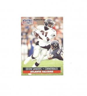 Deion Sanders 1991 Pro Set Card 98 Atlanta Falconssan
