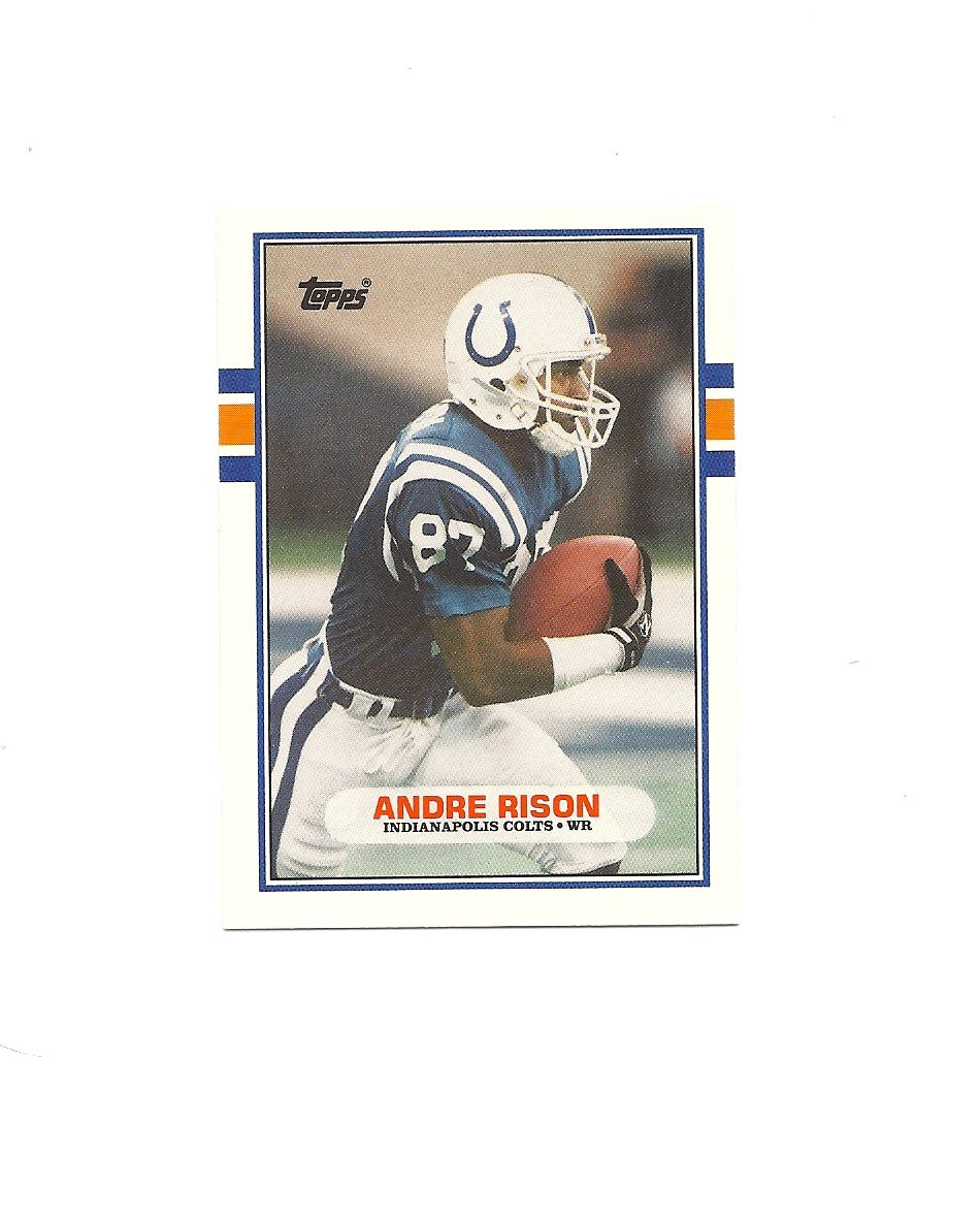 Andre Rison 1989 Topps Traded Rookie Card #102T