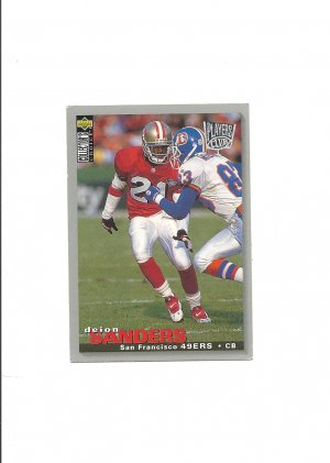 Deion Sanders 1995 Collector's Choice Silver #302 San Francisco 49ers/Dallas Cowboys/Atlanta Falcons