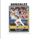 Juan Gonzalez 2004 Topps Card #188 Kansas City Royals/Texas Rangers