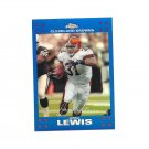 Jamal Lewis 2007 Topps Chrome Blue Refractor Card #TC66 Cleveland Browns