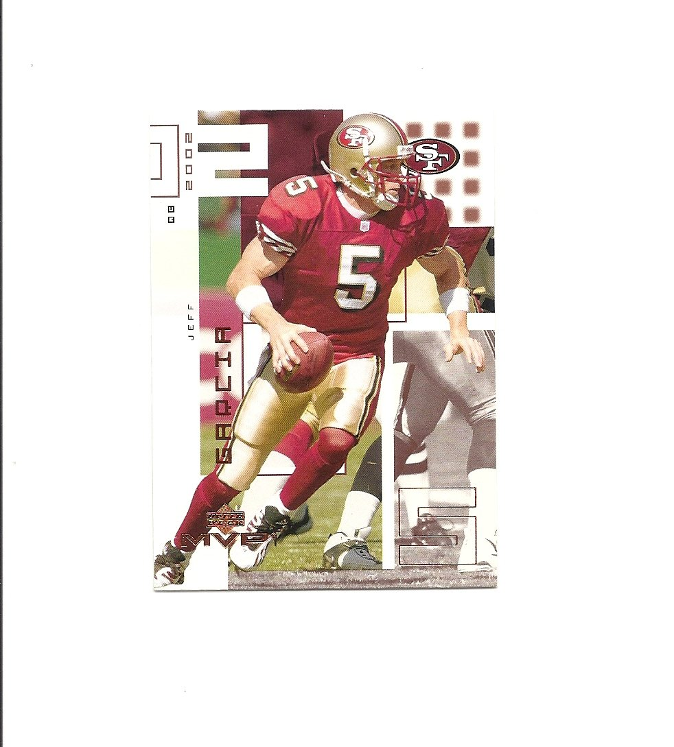 Jeff Garcia 2002 Upper Deck MVP Card #208 San Francisco 49ers